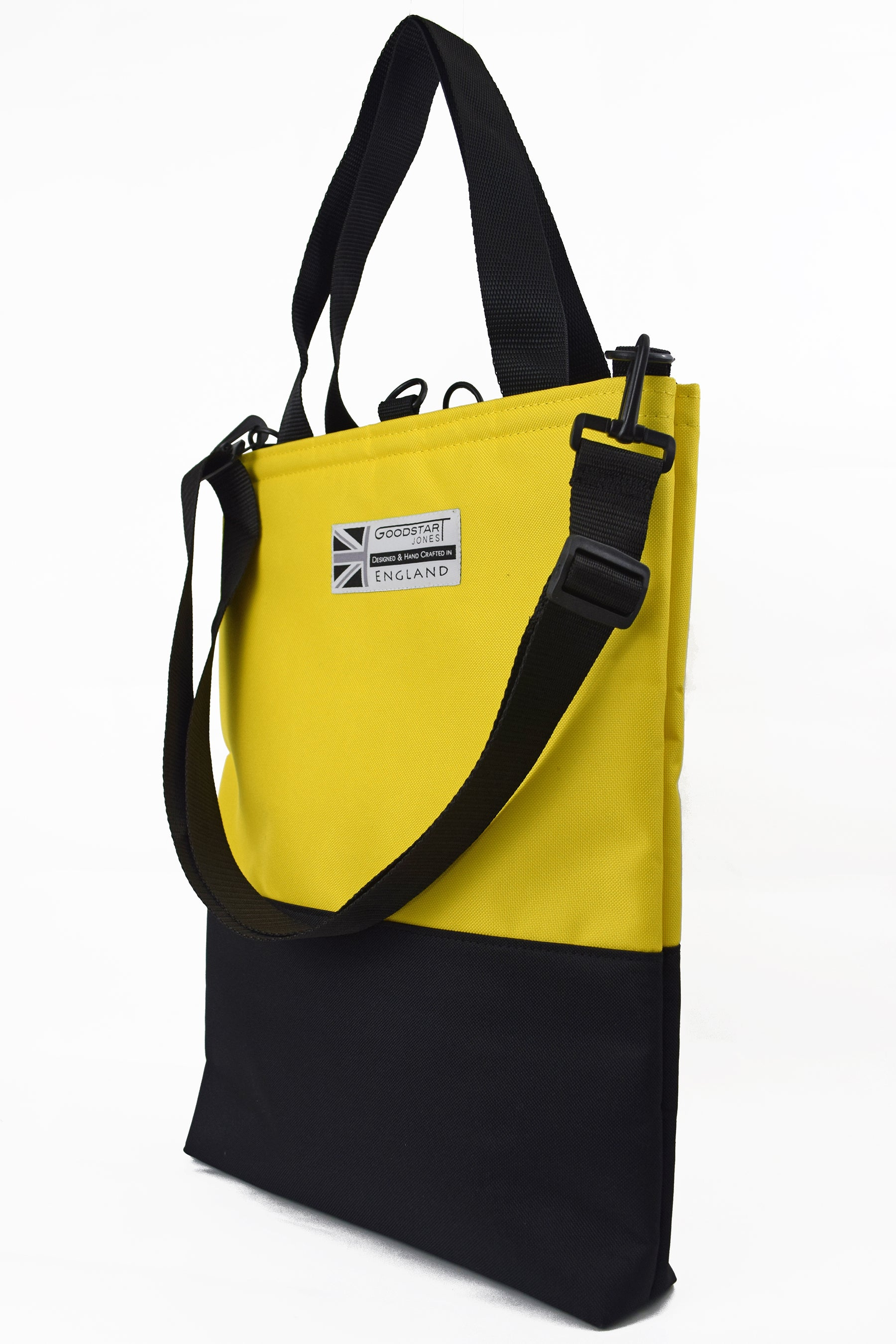 Goodstart Jones yellow tote bag with detachable shoulder strap