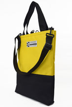 Load image into Gallery viewer, Goodstart Jones yellow tote bag with detachable shoulder strap