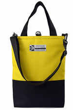 Load image into Gallery viewer, HALF BLACK Tote Bag | YELLOW
