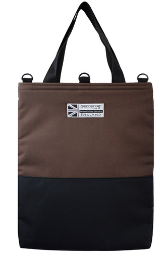 HALF BLACK Tote Bag | BROWN
