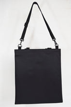 Load image into Gallery viewer, Goodstart Jones black tote and adjustable shoulder strap