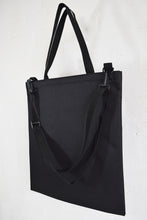 Load image into Gallery viewer, Goodstart Jones black shopper bag and tote bag with shoulder strap .