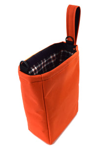 orange small storage travel utility pouch by Goodstart Jones