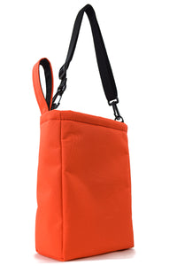 orange tote bag grab bag travel pouch by Goodstart Jones