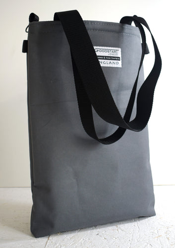 Goodstart Jones padded tote bag grey