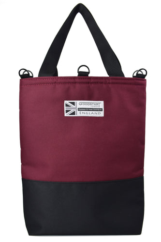 Goodstart Jones Burgundy tote bag half black collection