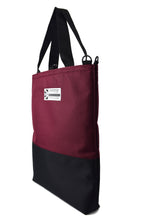 Load image into Gallery viewer, Burgundy wine padded tote bag by Goodstart Jones