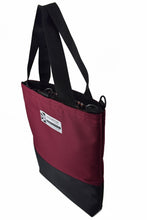 Load image into Gallery viewer, large burgundy wine tote bag shopper by Goodstart Jones