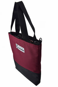large burgundy wine tote bag shopper by Goodstart Jones