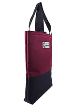 Load image into Gallery viewer, tote bag large shopper with wide handles Burgundy and black by Goodstart Jones