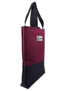 tote bag large shopper with wide handles Burgundy and black by Goodstart Jones