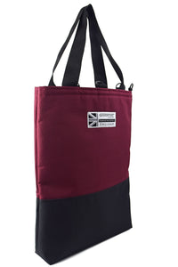 Goodstart Jones large tote bag shopper in burgundy black