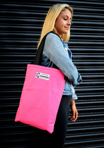 Pink fashion designer tote bag Goodstart Jones