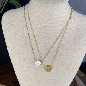 Large Solid Circle Necklace