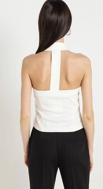 Ecru Sleeveless Top