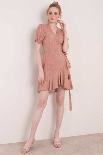 Mini Wrap Dress - Blush