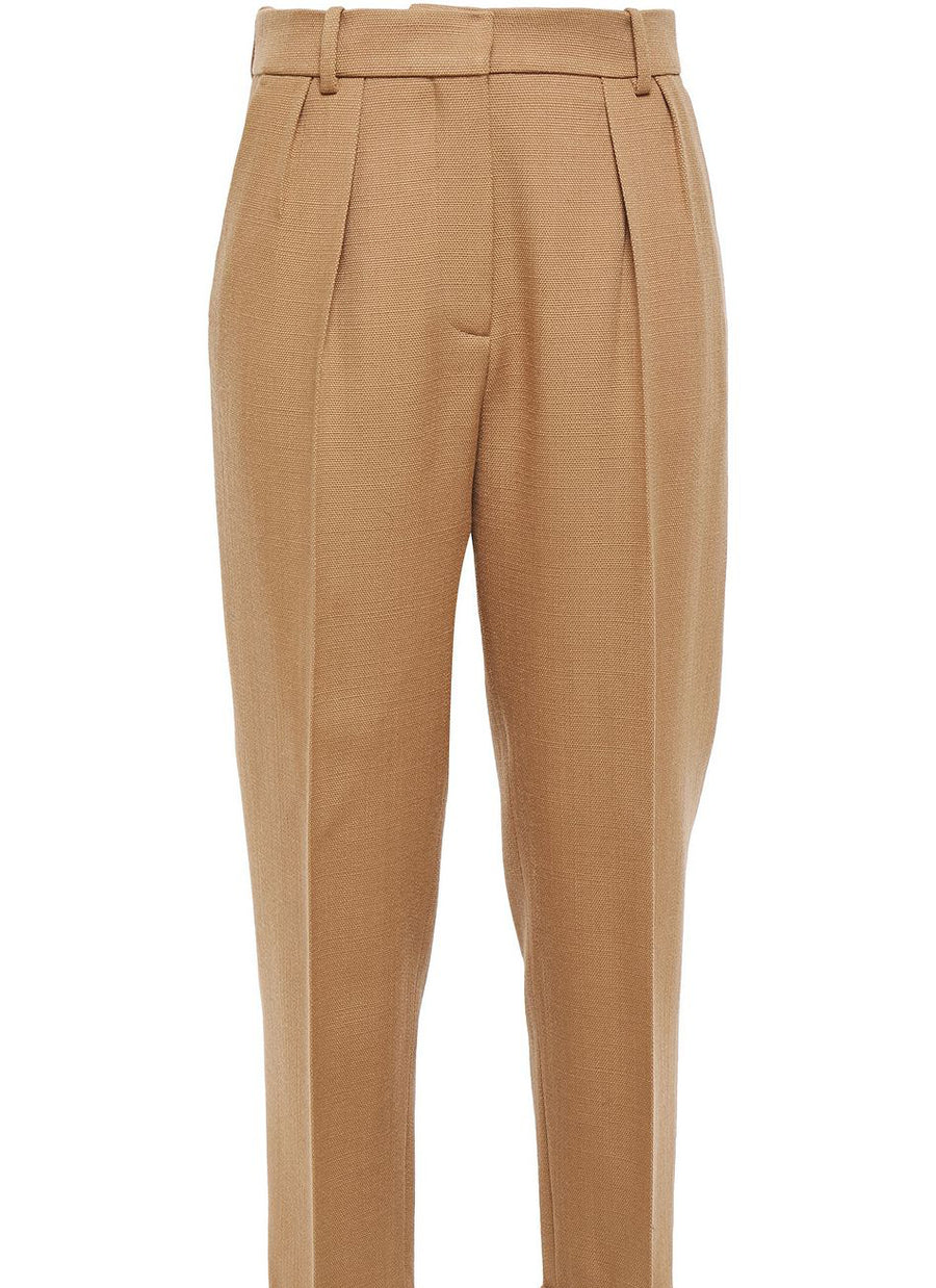 High Waisted Trousers Caramel