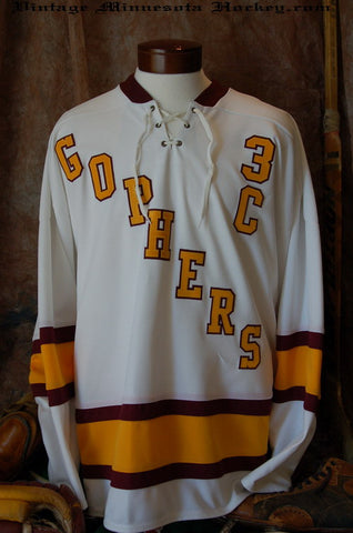 1961-1969 Minnesota Gophers Home Hockey Jersey
