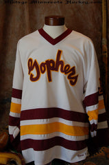 1969-1972 Minnesota Gophers Home Hockey Jersey