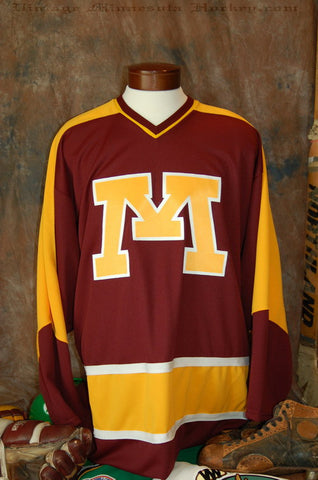 1972-1986 Minnesota Gophers Away Hockey Jersey
