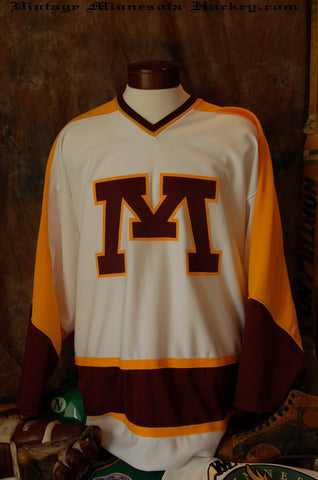 1972-1986 Minnesota Gophers Home Hockey Jersey