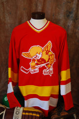 1976-1977 Authentic Fighting Saints Away Hockey Jersey