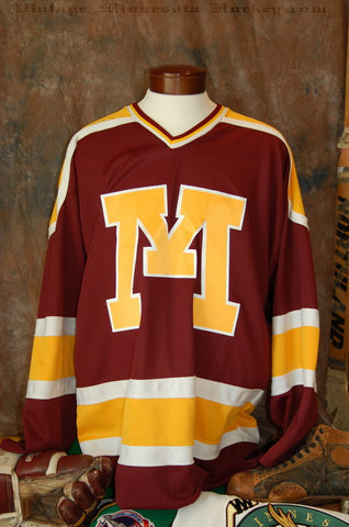 1986-1993 Minnesota Gophers Away Hockey Jersey