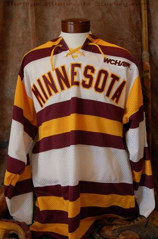 1993-1994 Minnesota Gophers Home Hockey Jersey