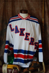 1995-1996 Warroad Lakers Home Hockey Jersey