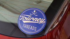 Tourney Threads Logo Vinyl Car Decal