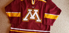 2003-2005 Mission Authentic Game Issued Gophers Away Jersey