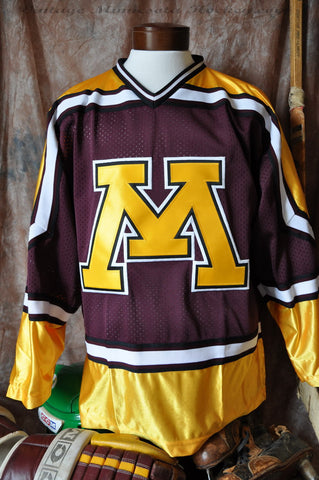 1994-1998 Minnesota Gophers Away Hockey Jersey