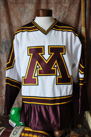 1994-1998 Minnesota Gophers Home Hockey Jersey