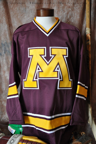 1998-1999 Minnesota Gophers Away Hockey Jersey