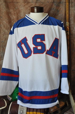 1980 Team USA Miracle On Ice Home Jersey