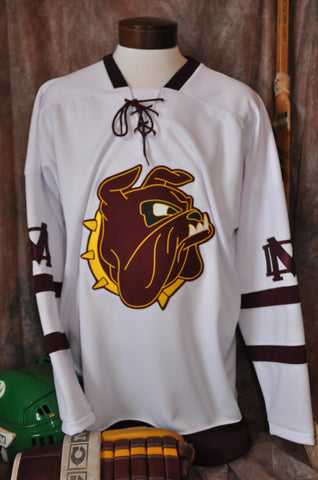 1969-1971 Minnesota Duluth Bulldogs Home Hockey Jersey