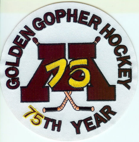 Minnesota Gophers Hockey 75th Anniversary Patch