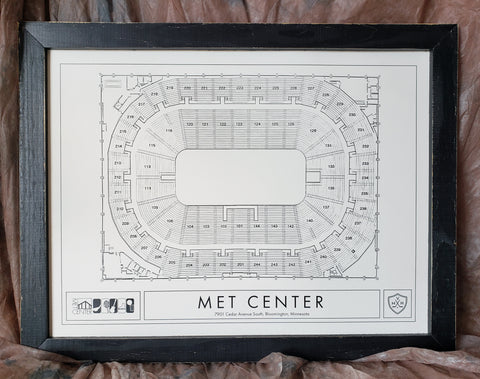 Met Center Artwork/Seating Chart