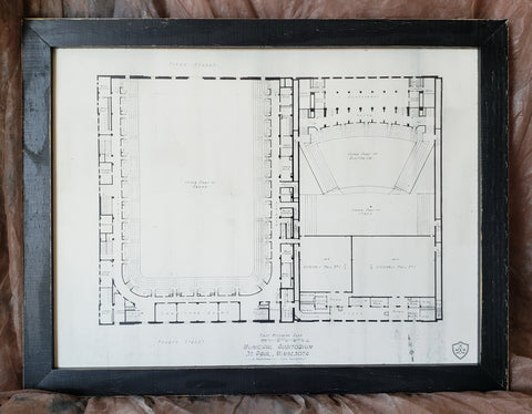 St. Paul Auditorium BluePrint