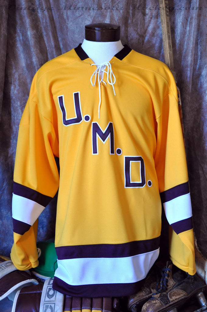 new concept f279d 95cc6 1964-1967 Minnesota Duluth Bulldogs Home Hockey Jersey ...