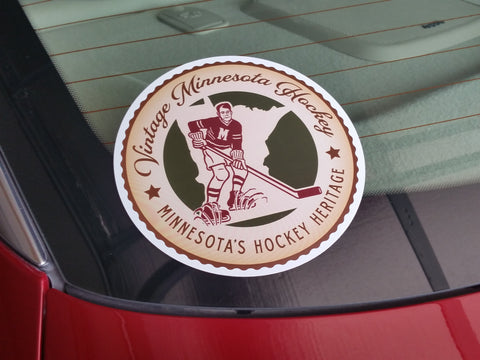 Vintage Minnesota Hockey Car Decal