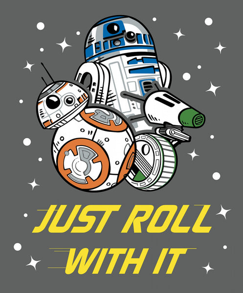 Star Wars Just Roll With it Fabric Panel, Camelot Fabrics