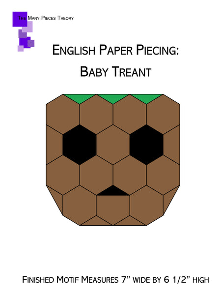 English Paper Piecing: Baby Treant Pattern Only