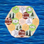 English Paper Piecing Kit - Catan Easy EPP Quilt Kit includes all fabric for top - glue - papers - thread