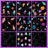 Animals in Spaaace Charm Pack