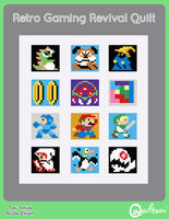 Retro Gaming Revival Quilt: A 12 Block Video Game Themed Quilt Pattern