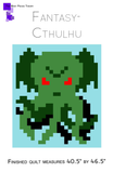 Cthulhu Lap Quilt Pattern