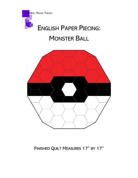 English Paper Piecing: Monster Ball Pattern Only