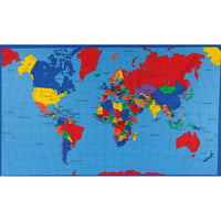 World Map Fabric Panel, Fabric Traditions