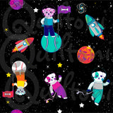 Dogs in Spaaace fabric from Animals in Spaaace Collection
